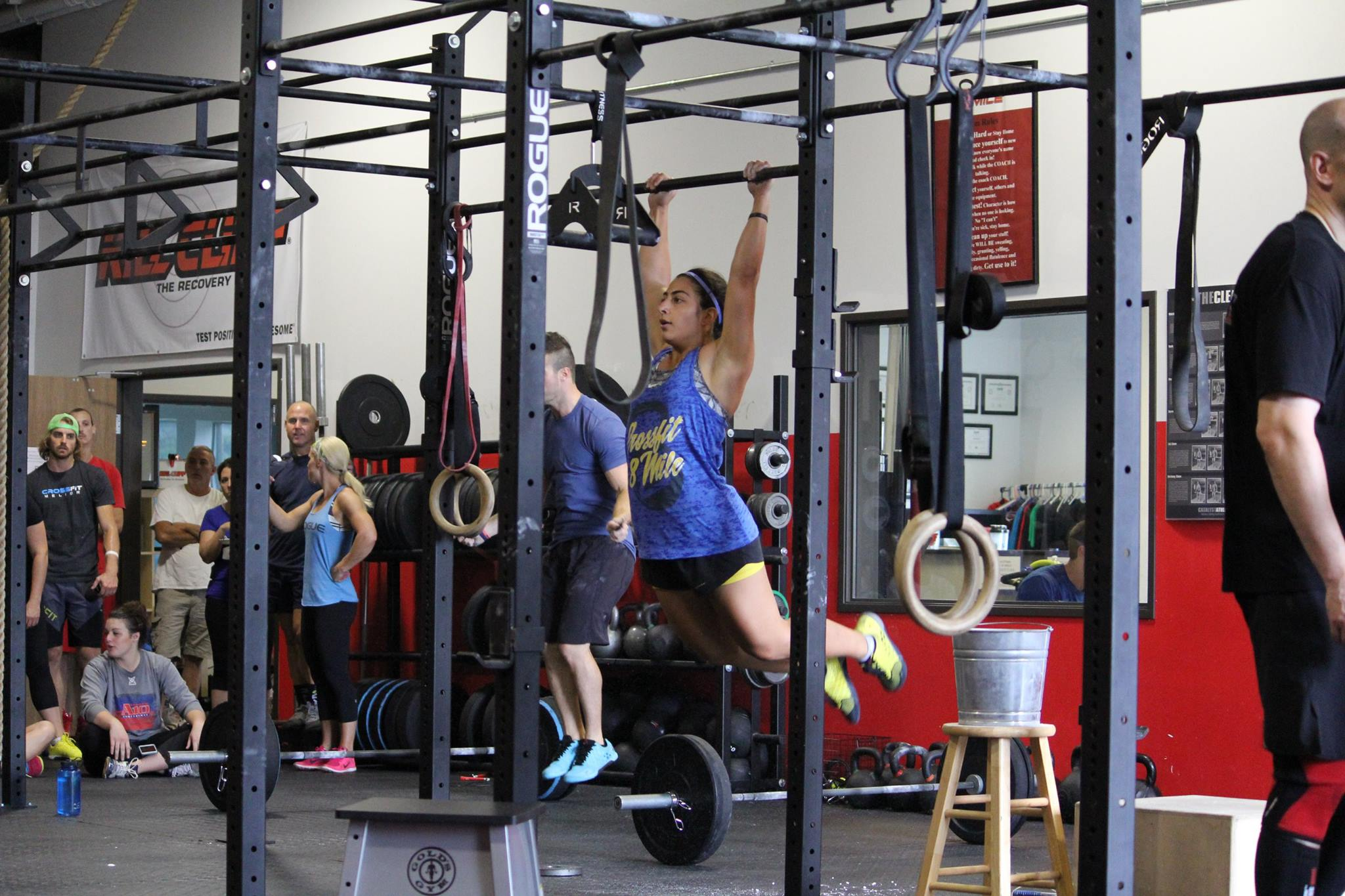 CrossFit 8 Mile Magan pull ups